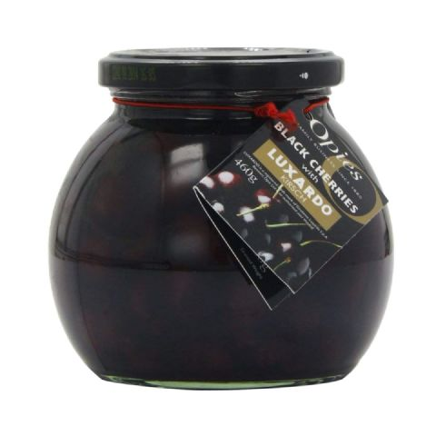 Opies Black Cherries With Luxardo Kirsch 460g